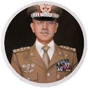 Generale Danilo Errico Round Beach Towel