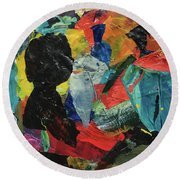 Generations Round Beach Towel by Mary Sullivan