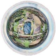 Genesee Pond Little Planet Round Beach Towel
