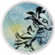 Gentle Blooms Round Beach Towel