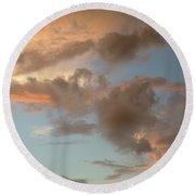 Gentle Clouds Gentle Light Round Beach Towel