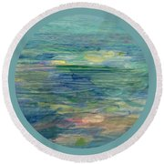 Gentle Light On The Water Round Beach Towel