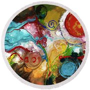 Gentle Persuasion Round Beach Towel by Sally Trace