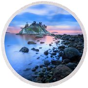 Round Beach Towel featuring the photograph Gentle Sunrise by John Poon