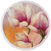 Gentleness Round Beach Towel by Klara Acel
