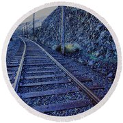 Round Beach Towel featuring the photograph Gently Winding Tracks by Jeff Swan