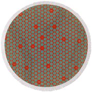 Geometric 2 Round Beach Towel by Bonnie Bruno