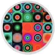 Round Beach Towel featuring the digital art Geometric Abstract I by Mimulux patricia no No