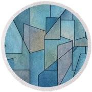 Round Beach Towel featuring the digital art Geometric Abstraction IIi by David Gordon