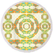 Geometric Composition Round Beach Towel by Gaspar Avila
