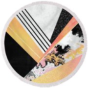 Geometric Summer Round Beach Towel by Elisabeth Fredriksson
