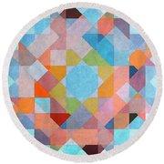 Round Beach Towel featuring the digital art Geometry by Jutta Maria Pusl