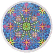 Geometry Of An Arkana Round Beach Towel