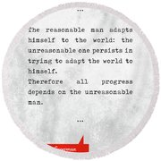 George Bernard Shaw Quotes - Man And Superman - Literary Quotes - Book Lover Gifts - Typewriter Art Round Beach Towel