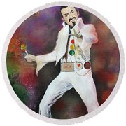 George Michael Gentlemen And Ladies Round Beach Towel