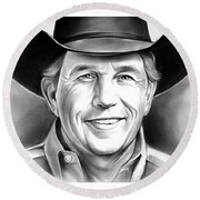 George Strait Round Beach Towel