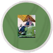 George The Artist Round Beach Towel