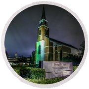 Round Beach Towel featuring the photograph George W Truett Seminary At Baylor University by David Morefield
