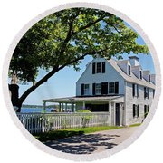 George Walton House In Newcastle Round Beach Towel