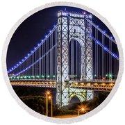 George Washington Bridge - Memorial Day 2013 Round Beach Towel