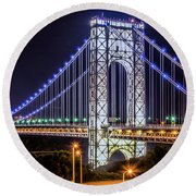 George Washington Bridge - Memorial Day 2013 Round Beach Towel