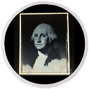 George Washington Round Beach Towel by Richard W Linford