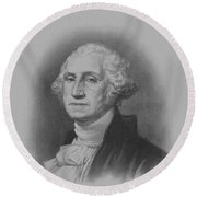 George Washington Round Beach Towel by War Is Hell Store