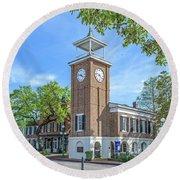 Georgetown Clock Tower Round Beach Towel