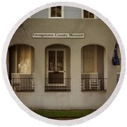 Georgetown County Museum South Carolina Round Beach Towel by Bob Pardue