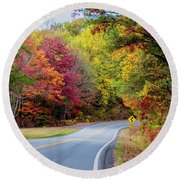 Georgia Scenic Byway Round Beach Towel by Barbara Bowen