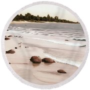 Georgian Bay Beach Round Beach Towel