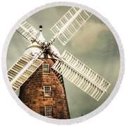 Round Beach Towel featuring the photograph Georgian Stone Windmill  by Jorgo Photography - Wall Art Gallery