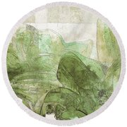 Round Beach Towel featuring the digital art Gerberie - 30gr by Variance Collections