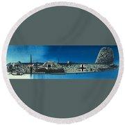 German Aircraft Of World War  Two Focke Wulf Condor Bomber Round Beach Towel