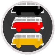 German Icon - Vw T1 Samba Round Beach Towel
