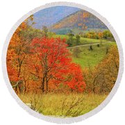 Germany Valley Dressed In Autumn Round Beach Towel
