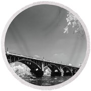 Gervais Street Bridge In Ir1 Round Beach Towel by Charles Hite