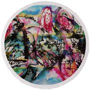 Gesture Round Beach Towel by Adria Trail