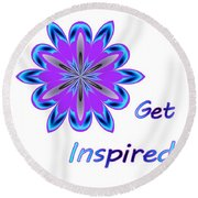 Get Inspired Round Beach Towel