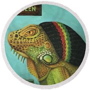Get Medicated Detail Round Beach Towel