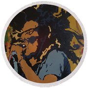 Get Up Stand Up Round Beach Towel