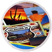 Get Your Kicks... Round Beach Towel
