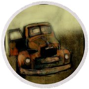 Getaway Truck Round Beach Towel by Jim Vance
