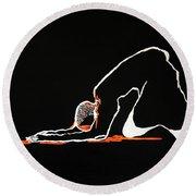 Gethsemanes Call Round Beach Towel