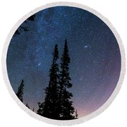 Round Beach Towel featuring the photograph Getting Lost In A Night Sky by James BO Insogna