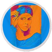 Getting Ready Electric Round Beach Towel
