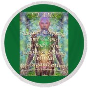 Getting Super Chart For Affirmation Visualization V3u Round Beach Towel