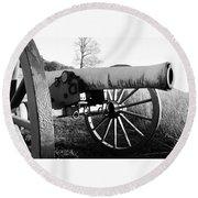 Gettysburg Cannon Round Beach Towel