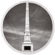 Gettysburg National Park United States Army Regulars Monument Round Beach Towel
