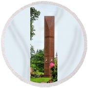 Gfu Light Clock Tower 5x15 Round Beach Towel